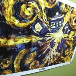My home is starting to feel geekier by the minute. #vangogh #drwho #tardis