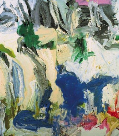 "Modern Art: ""Two trees on Mary Street … Amen!"", 1975, by Willem de Kooning. From the collection of the Queensland Art Gallery in Brisbane, Australia…"