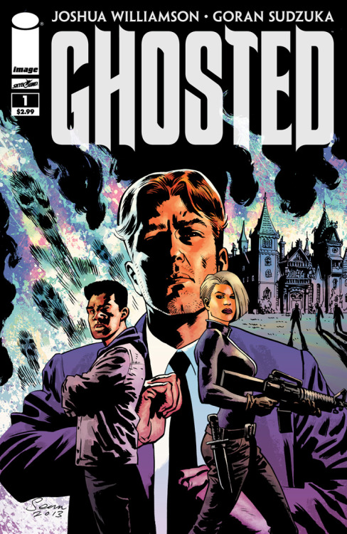 "pizza-party:  thejoshuawilliamson:  GHOSTED #1. JULY. PRE-ORDER. Criminal mastermind Jackson T. Winters has spent the last decade languishing in prison after his last heist went horribly wrong. Now, in return for breaking him out, a rich eccentric tasks him with capturing a ghost for the millionaire's macabre collection in the new Image Comics/Skybound mini-series GHOSTED. Written by Joshua Williamson and drawn Goran Sdzuka, with Miroslav Mrva on colors and Eisner nominee Sean Phillips (FATALE) providing covers, GHOSTED, set to debut in July, is a dark supernatural mystery crossed with a classic caper. Expert thief Winters must assemble a completely different kind of team than the one he lost ten years before, made up of ghost hunters and paranormal experts. But the haunted house they enter may be more of a match than they'd bargained for. ""For years my obsession has been to do a book that took place in a haunted house; a crime and horror title, one that was fun but went to some dark edgy places,"" said writer Williamson.  ""'Gritty' has become a sort of pop word to describe a certain kind of book but it really is the best way to illustrate Ghosted."" Williamson isn't shy about putting his characters' dark sides on display, either. ""One of my favorite things to write are the bad guys. The underbelly of the crime world. Characters that are tortured, and are kind of jerks. Ghosted has plenty of that and has been a blast."" The first issue of the five-issue miniseries is set to go on sale on July 10. It can be pre-ordered now (Diamond Code MAY130405) from the May issue of Previews.  Check out my boy Josh's new book, dudes and dudettes!  Excited for this book."