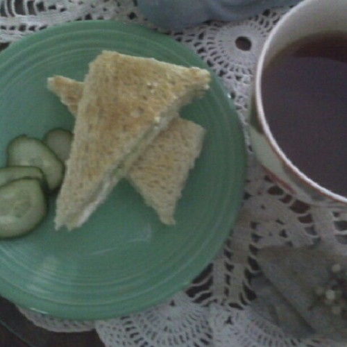 A cucumber sandwich and a spot of tea…elevenses …