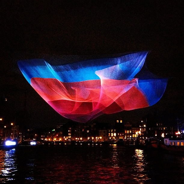 Breaking: UFO sighting in Amsterdam (at Amsterdam Light Festival)