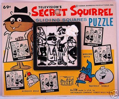 Secret Squirrel sliding tray puzzle (1966)