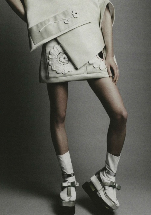 Simple: Stina Rapp shot by Patrick Demarchelier for Interview, December 2012/January 2013