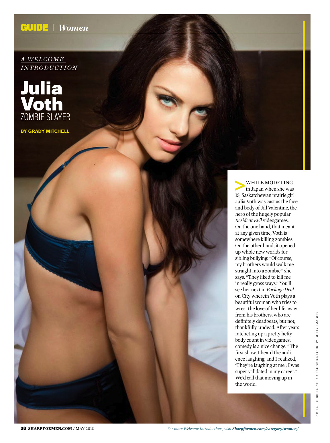 Julia Voth - Sharp Magazine Canada May 2013   |   Package Deal