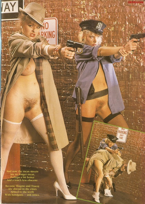 youreaperv:  Retro cop girls!  (Tell me there's no Psychic Pussy Communication here.)
