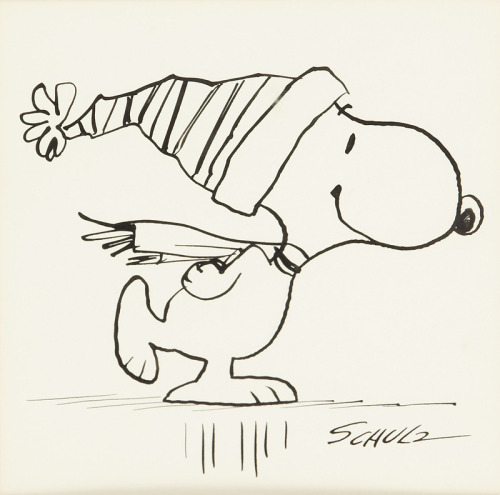 ckck:  To go with the Sunday jazz, one of Charles Schulz's original sketches.