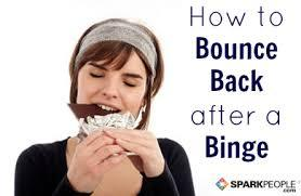"s-taymotivated:  How to Bounce back after a Binge!  1. Don't purge. I know it's really hard to hold back from it, especially if you've done it before, but it will not benefit you in any way. 2. Don't reduce your calorie intake for tomorrow (or any of the days following) to nothing. It might seem like a logical plan, but if you restrict tomorrow, you'll never get into a normal cycle of eating. You'll be constantly ricocheting between binge and purge, starve and binge, purge and starve. You'll never be eating normally. 3. Remember that it takes 3500 EXCESS calories to gain a pound. This means 3500 calories on top of what your body already requires to function on a day-to-day basis. It's highly unlikely your stomach can even hold this much, much less double that, so it's very unlikely you'll gain more than two pounds from this! Your progress is not back at zero. Your efforts so far are not null. This is just a little bump in the road. 4. Put on comfy clothes. Honestly. Tight clothes will just make you feel worse. Feeling bad = more binging. Take off those tight jeans, and put on some cozy sweats. 5. Use your binge as a learning experience. What triggered it? Did you feel out of control? Did you actually want all the food you were eating, or were you just eating for eating's sake? Did you even like the taste of some of it? Do you think you binged because you deprived yourself of a treat you wanted earlier? Did you binge because you've been starving all day and just couldn't take it anymore? Try and understand your binge, understand what your mind went through when your hands were reaching for all that food. The more you can understand the reasons behind your binge, the better you'll be next time at preventing them—when you're standing in the middle of a binge, it actually has nothing to do with willpower, it's usually the result of decisions you made much earlier. For more information on how your brain can trick you into binging when its not getting enough nutrients, click here and here. 6. Remember that you are NOT a failure, bad for eating, undeserving of life, or ugly because you decided to give yourself what you really wanted. Now for the fun part. Tomorrow, wake up all bright and sunny. Leap right out of bed (Note: when wondering how to get out of bed, the answer is always ""leap."") Have a delicious bowl of healthy for breakfast and get really excited about feeling awesome all day because of all the healthy food you're going to bless your body with. Take a walk, if you'd like to. Smile all day long. Drink some water.  But don't purge and don't restrict. Eat how you'd normally eat, cause you're a normal eating healthy person who does not fall prey to freak eating cycles. You don't need that shit, look at you, you're hot as hell."