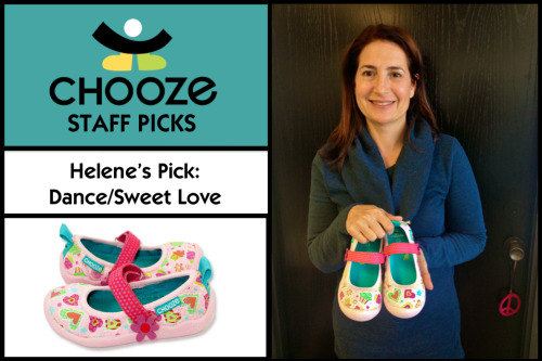 "Helene's Pick: Dance in Sweet Love prints ‎""I can't wait to give these shoes to my little girl tonight for Valentine's Day because she's my Sweet Love!""  -Helene, CHOOZE HQ"