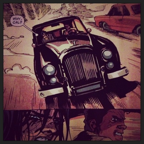 Albuquerque drawing car chases. Delicious. #americanvampire #comics