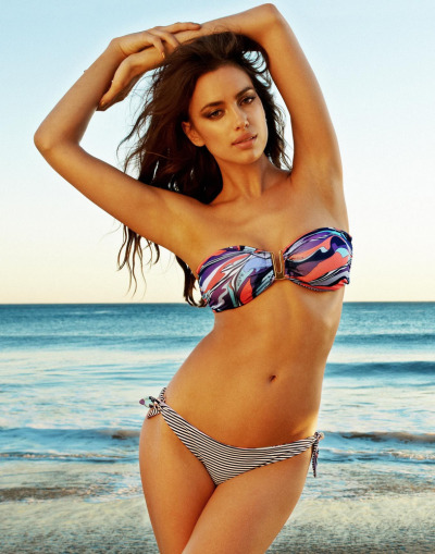 "Irina Shayk is ""too hot to handle"" in the new Beach Bunny campaign. Talk about ""hot"" and she is!  See the Slideshow"