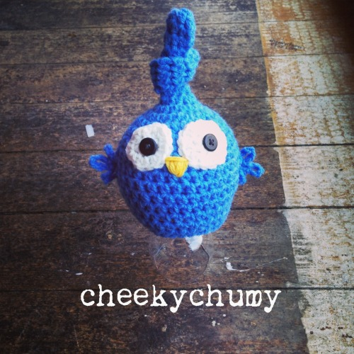 Cheeky little blue bird hat.  Newborn