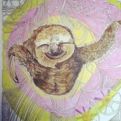 vegankiss:  Ever so blessed to have my happy sloth watching over me :)  May the sloth be with you! <3