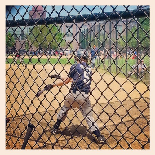 Follow through. #baseball #summer #brother #swing #homerun #goblue #5 #majors #Chicago #chicity #wellespark