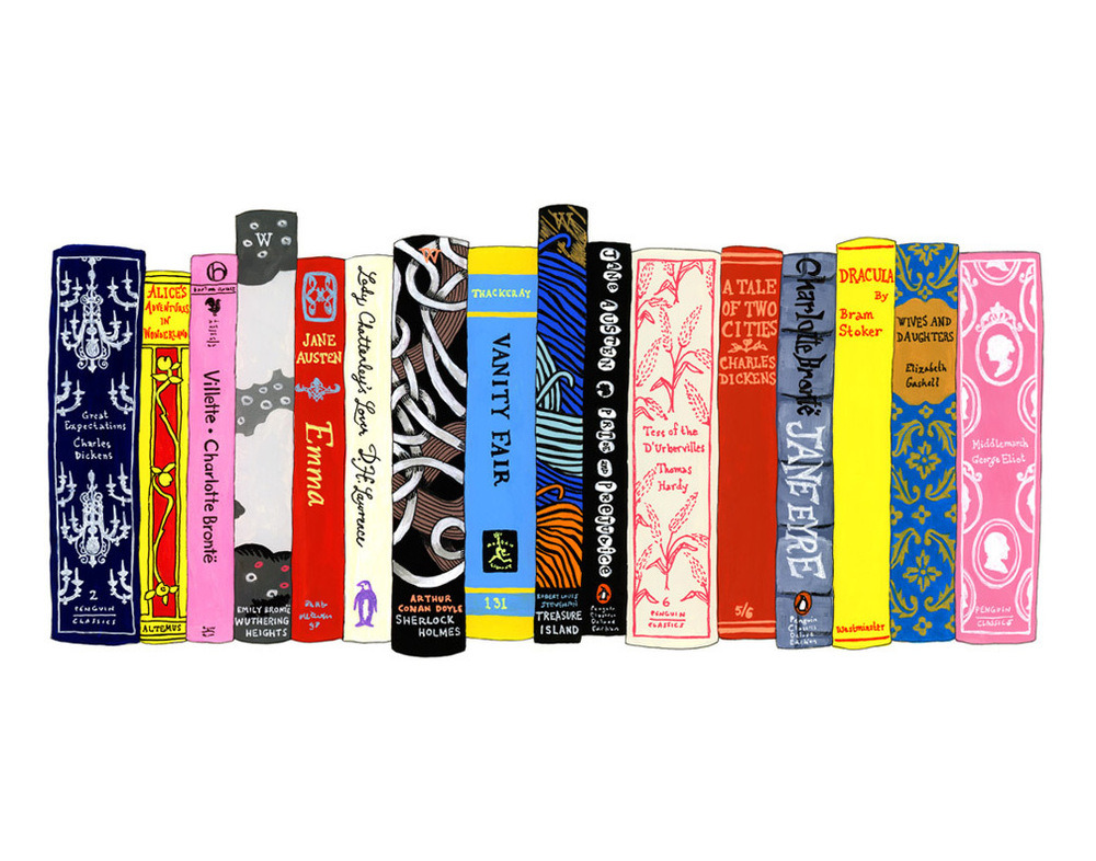"Ideal Bookshelf 353: English Lit and Ideal Bookshelf: James Franco by Jane Mount—two of many lit-happy works featured in our Art for Word Nerds Gift Guide""I paint people's ideal bookshelves: your favorite books, books that changed your life, books that made you who you are… I think of this project as an intimate form of portraiture; a way to illustrate who the subject is on the inside instead of out."" — Jane Mount, whose recently published book, My Ideal Bookshelf, is pure art-lit gold. Every single person at 20x200 HQ is an unabashed, book-lovin' word nerd. We encourage you to indulge your passion for typography, fonts, poetry, mottos and mantras with these specially selected works of art."