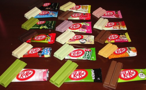 thecakebar:  brutu:  theres so many kitkats ive never had im crying  look at all these amazing flavors, why they don't sell these in USA? or do they??