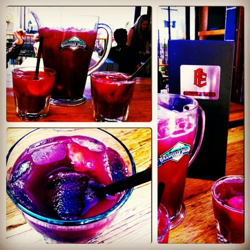 #sangria #falconettis #sunshine #vancouver #booze #awesome #hotdogs (at Falconetti's East Side Grill)
