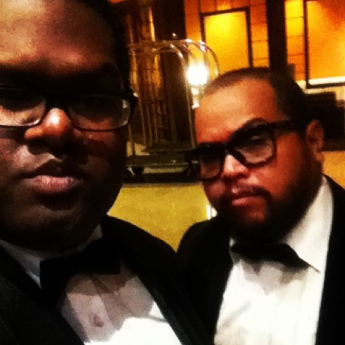 Gangsta bros at the symphony…#samnafie #anighttoremember #gala #benefit  (at Hyatt Grand Ballriom)