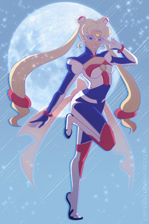 Futuristic Sailor Moon by =Chukairi
