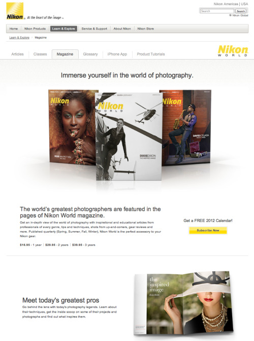 Featured on the Nikon World Website