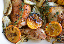 in-my-mouth:  Roasted Chicken with Clementines