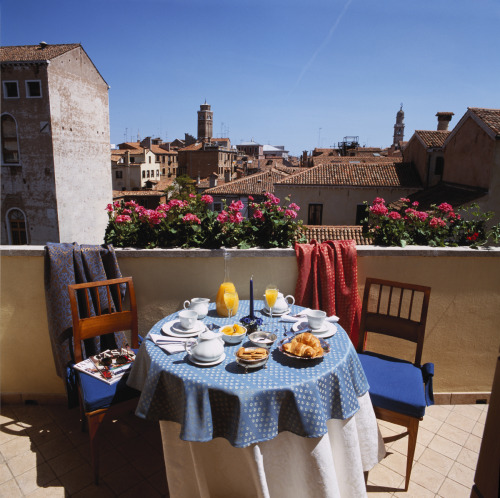 Terrace off our room to be in Venice, Italy at the Palazzo Odoni.