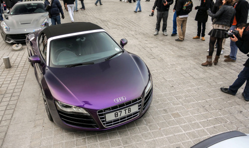 carpr0n:  A different shade Starring: Audi R8 (by ExoticCarsParis)