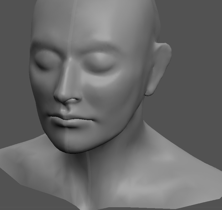 Workin' on modelling my own head, so's I can model masks on top of it. It's going well.