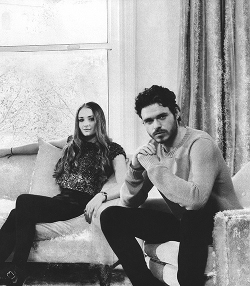 dobraeva:  richard madden and sophie turner for empire magazine, may 2013.