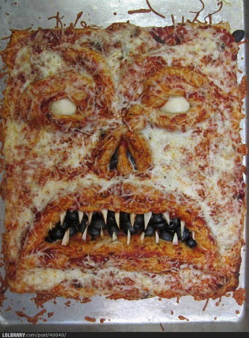 lolbraryblog:  Evil Dead fans I give u the Necronomicon pizza!Follow this blog for the best new funny pictures every day