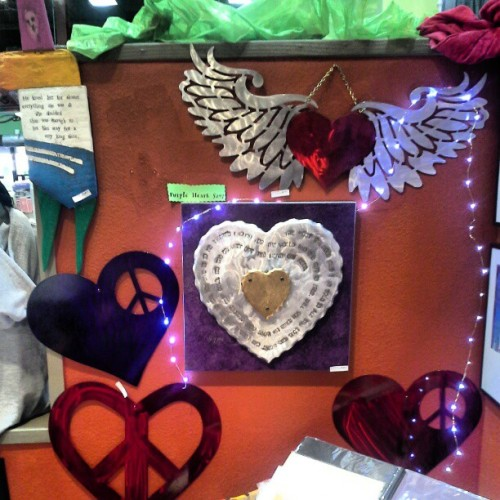 Metal handmade heart art. New at pagaea p.b.