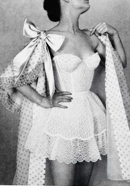 vintagegal:  Lingerie by Jacques Fath in L'Officiel, 1956