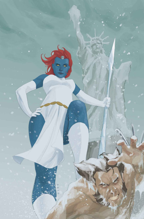 Mystique vs Wolverine by Phil Noto