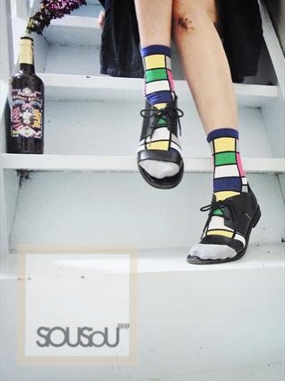 Mondrian socks available on asos marketplace