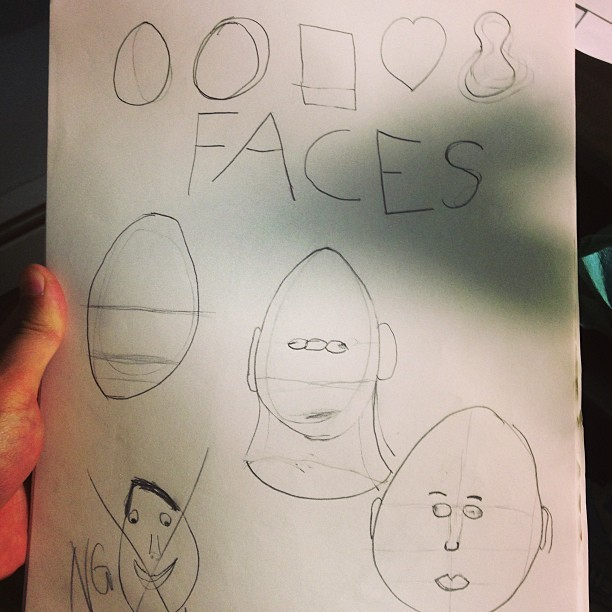 How I learned to draw faces…