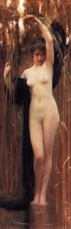 chrestomatheia:   Arthur Hacker (1858-1919), Syrinx.