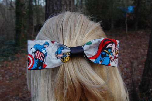 I just listed new Marvel hair accessories at my Etsy shop!