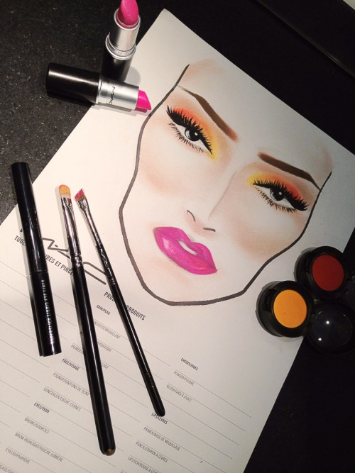 visualvixen:  twoheadedgurl:  My facechart from the other night  Wow.