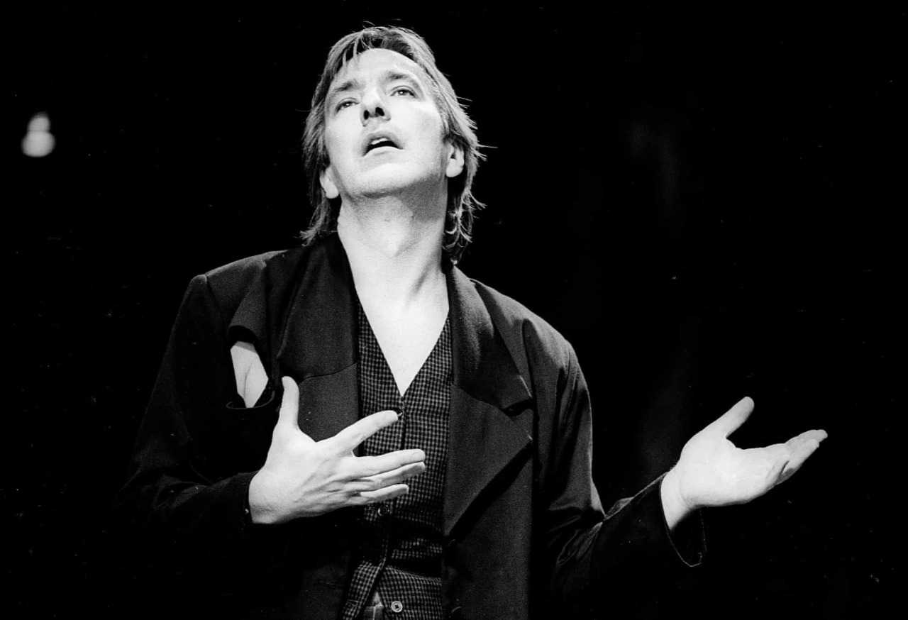 Alan Rickman as Hamlet, directed by Robert Sturua at Riverside Studios, London, in 1992
