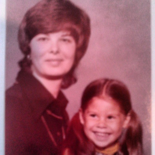 My mom and I #Mothersday #tbt #pigtails