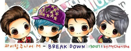 foufoua:  [FANART] KyuMinEunHae on SJM album (cr mycherishe)