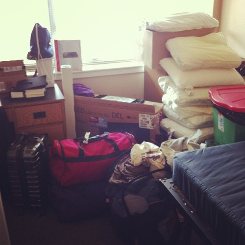 My life, condensed. #moving #byeumbc #tyyn (at Walker Avenue Apartments)