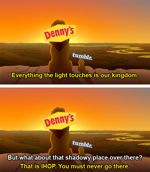 Every IHOP experience I've had makes me love Denny's even more.