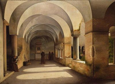 Christoffer Wilhelm Eckersberg The Cloisters, S. Lorenzo Outside the Walls yochanah