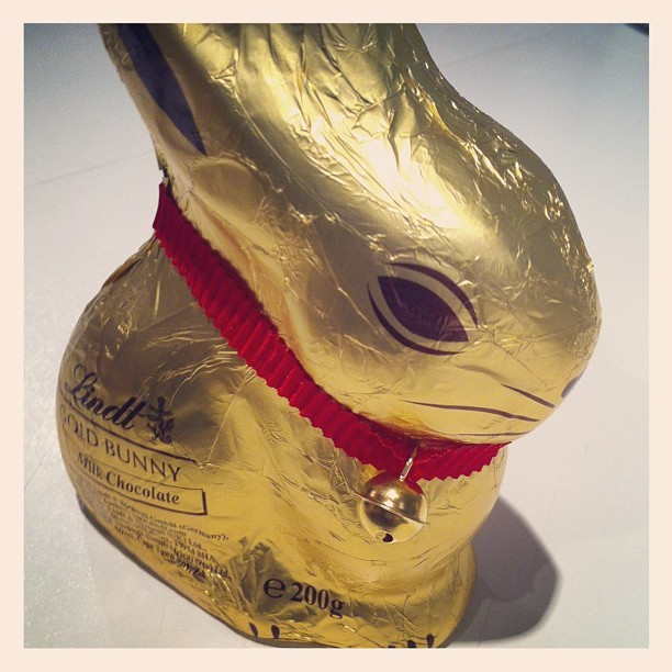 Happy Easter! #goldbunny