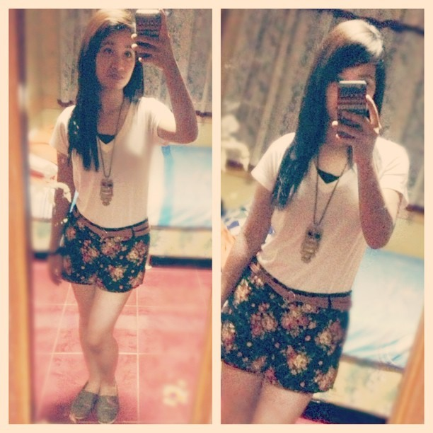 #ootd #potd #ig #fashion #asian #outfit #goodmorning #smile #floral #black #white #brown