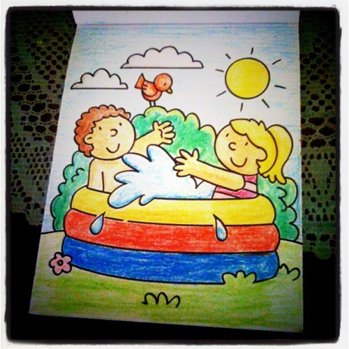 Found a new past time :) Coloring my nephew's coloring book. Guess I need to buy him a new one. :))