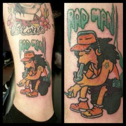 violaletattooer:  Rad man #violalion #tattoo #simpsons #otto #highlife