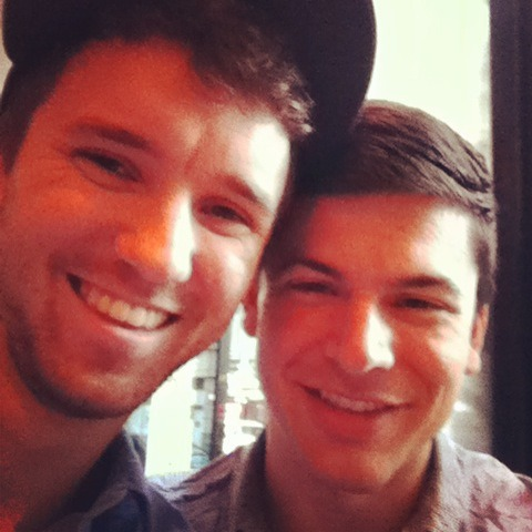 fuckyeahgaycouples:  Me and the boyfriend. I've been so happy with him.