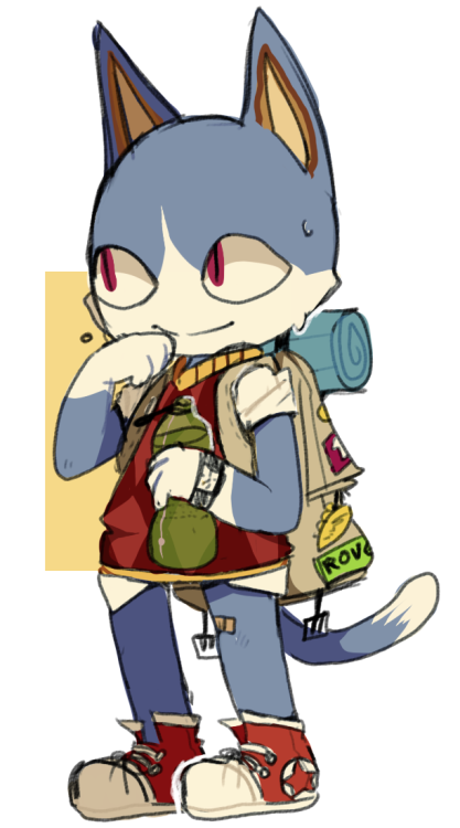 cat dude from animal crossing.