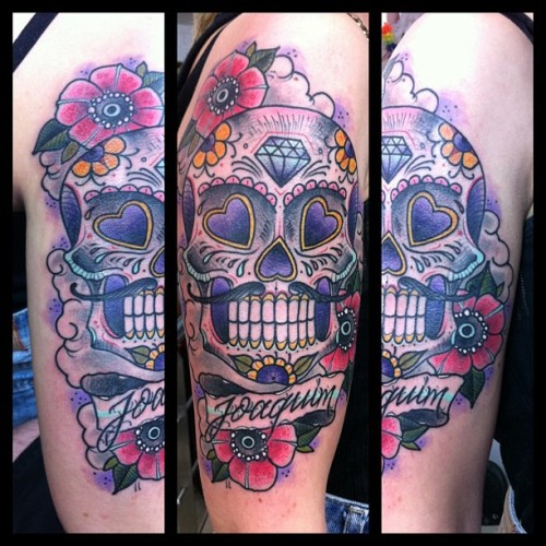 Grandpa sugar skull! (em Glorybound Tattoo Parlor)